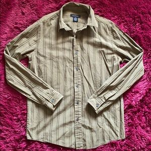Calvin Klein Jeans olive green button down shirt